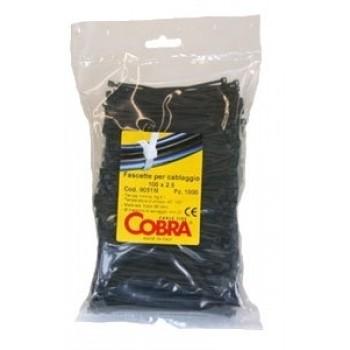 Стяжка COBRA 200Х2,5 мм K-200M (100 шт) черная