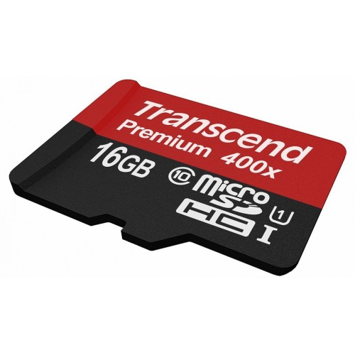 Карта памяти TRANSCEND Premium 400X 16 Гб Class 10  (без адаптера