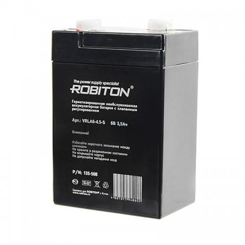 Аккумулятор Robiton VRLA 6-4.5-S 6V 3,5Ah