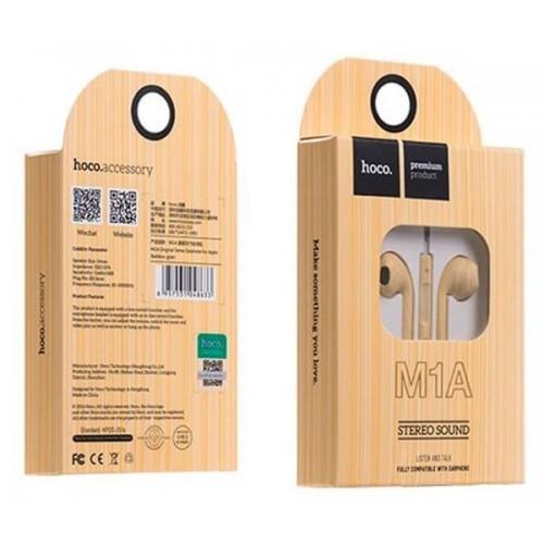 Наушники Hoco M1A Original, кабель 1.2м, цвет: Bamboo