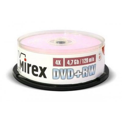 DVD-диск Mirex DVD+RW 4,7 Гб 4X Cake box 10 (10/300)