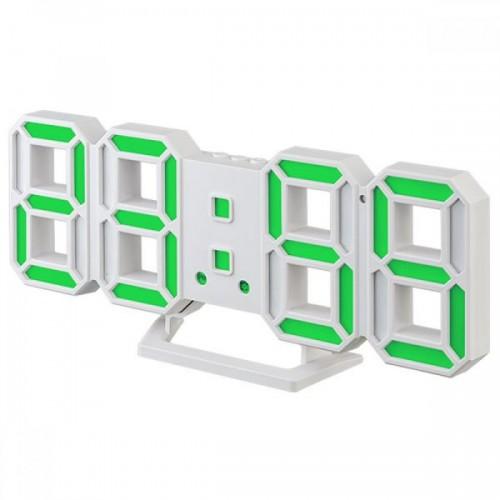 Электронные часы Perfeo LUMINOUS, (PF-6111) (белый корпус / зелен