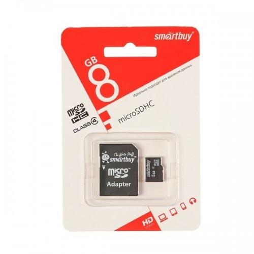 Карта памяти Smartbay 4 Гб Class 4 Class 10 + SD адаптер