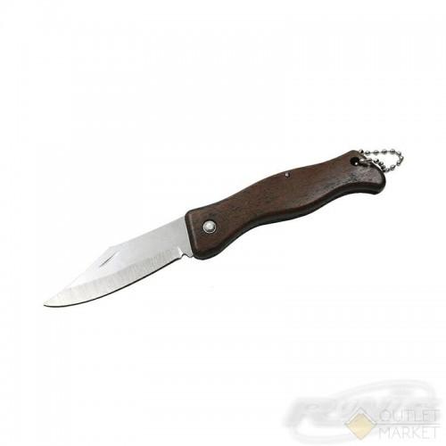 Нож складной, цв. дерев., дл. клинка 60 мм/1200/ 9-019