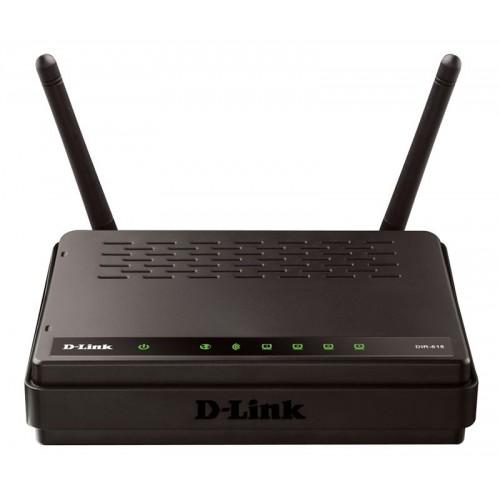 Беспроводной маршрутизатор D-Link DIR-615A/A1A, черный, 802.11bgn