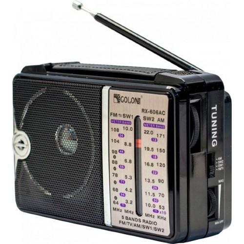 Радиоприемник Golon RX-606 (220V/2*R20, fm-64)