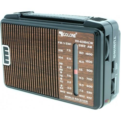 Радиоприемник Golon RX-608 (220V/2*R20, fm-64)
