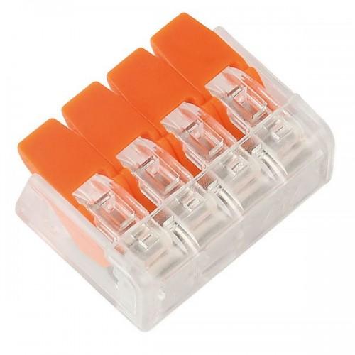 Компактная соединительная клемма SmartBuy 4 отверстия, 0,2-4 мм2,