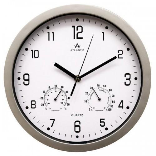 Часы настенные Atlantis TLD-9039 серебро 309x309x49 мм