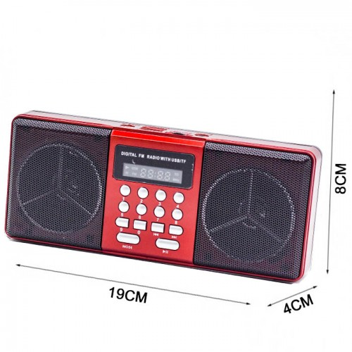 Радиоприемник Haoning HN-1824 LED black/red