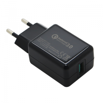 Зарядное устройство Горизонт SC-30C 18W Qualcomm (3A, 1USB) black