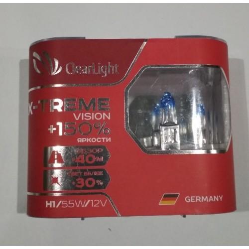 Галогеновая лампа Clearlight H1 12V-55W X-treme Vision +150% Ligh