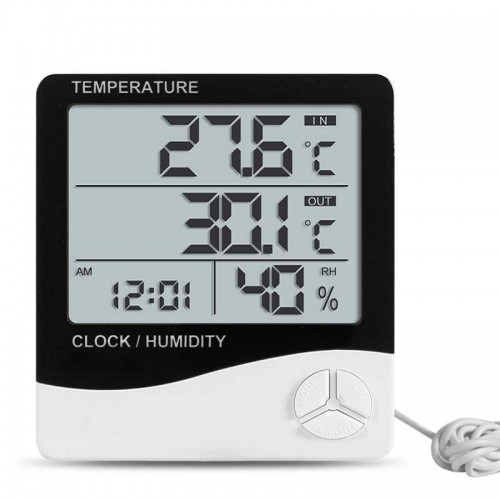 Термометр - гигрометр НТС-2 (Out/In, clock)
