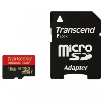 Карта памяти Transcend Ultimate 600X 16 Гб Class 10 + adapter