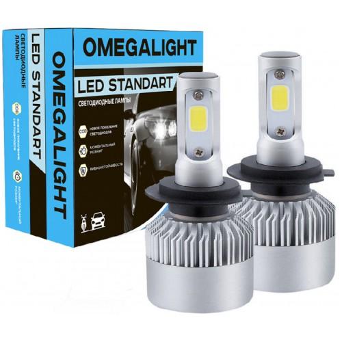 LED лампы головного света Omegalight Standart H4