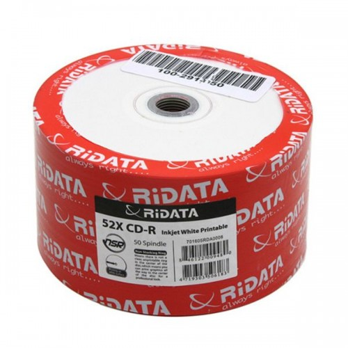 CD-диск Ritek CD-R 80 min, 52x, no print, без канавки SP100