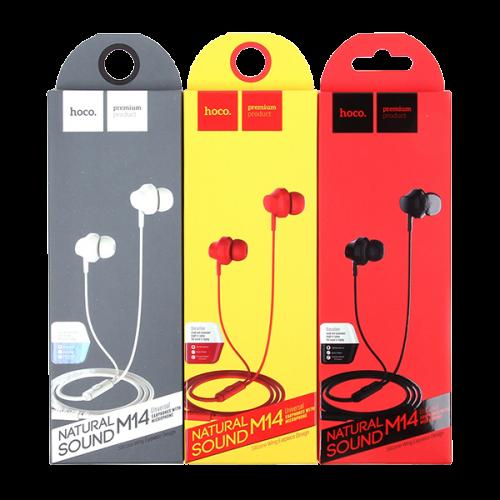 Гарнитура Hoco M14, Inital Sound, микрофон, кабель 1.2м, цвет: чё