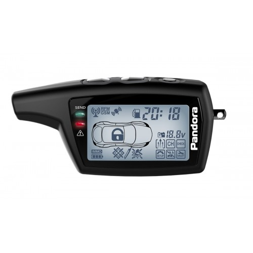 Брелок Pandora LCD 079 DXL black DX50s