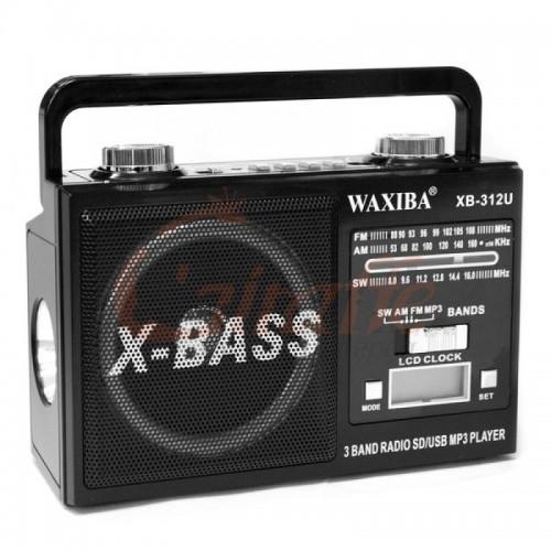 Радиоприемник WAXIBA ХВ 312 FM/USB/Bluetooth/DC