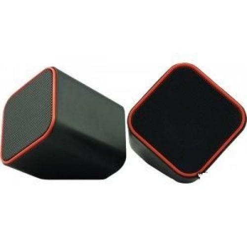 Колонки SmartBuy, 2.0, Cute, чёрные/серые, USB. Регулятор громкос