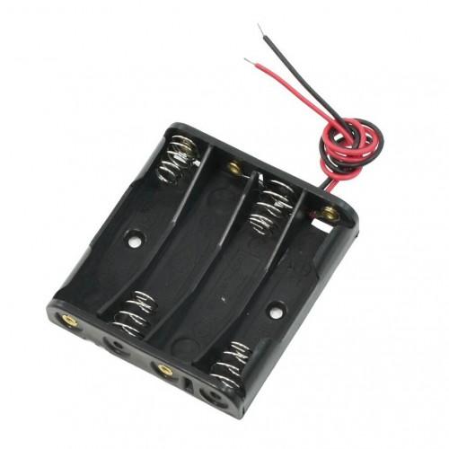 Отсек для элементов питания ET AAA 4S1P-W с проводами