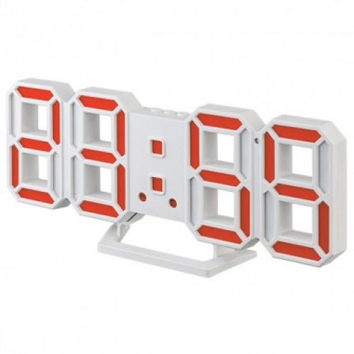 Электронные часы Perfeo LUMINOUS 2,  (PF-6111) (белый корпус / кр