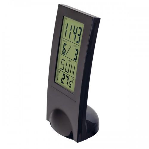 Электронные часы Perfeo Glass PF-SL2098, Цвет - Черный