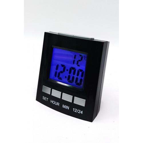 Часы-будильник говорящие 691-t с подсветкой от 2*ААА...