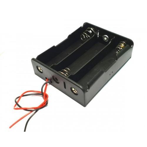 Отсек для элементов питания ET AAA 3S1P-W с проводами