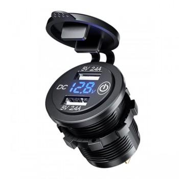 Зарядное устройство SKU16UV-4.2A 2USB (+voltmeter)