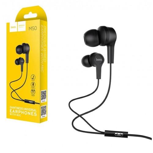 Гарнитура Hoco M50, Daintinees, микрофон, кнопка ответа, кабель 1