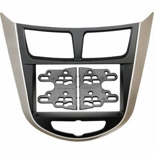 Переходная рамка Intro RHY-N19 Hyundai Solaris 11+2din крепеж