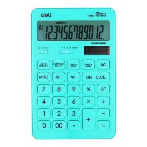 Калькулятор настольный Deli E1122/BLUE синий 12-разр.