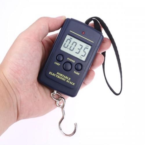 Весы электронные QJ101 ручные с крючком 50кг\10гр black