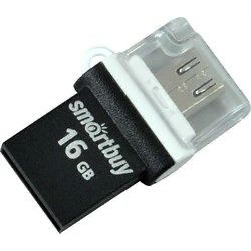 USB Flash накопитель SmartBuy POKO OTG 16GB чёрный