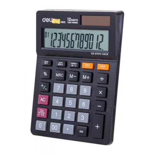 Калькулятор настольный Deli Touch EM01320 черный 12-разр.