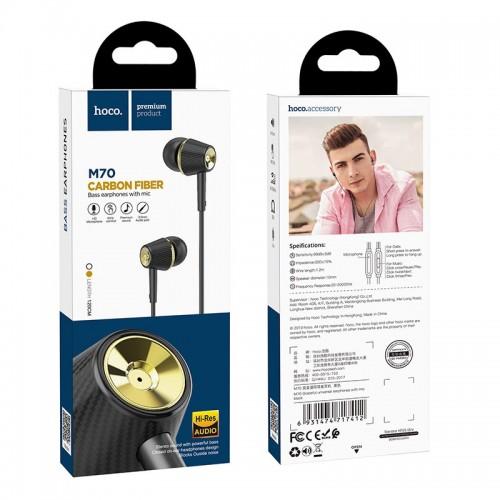Наушники Hoco M70 Graceful, внутриканальные, микрофон, кнопка отв