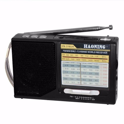 Радиоприемник Haoning HN-316UAT black/red