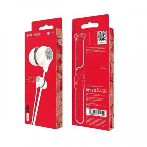 Наушники Borofone BM28 Tender sound, микрофон, кнопка ответа, рег