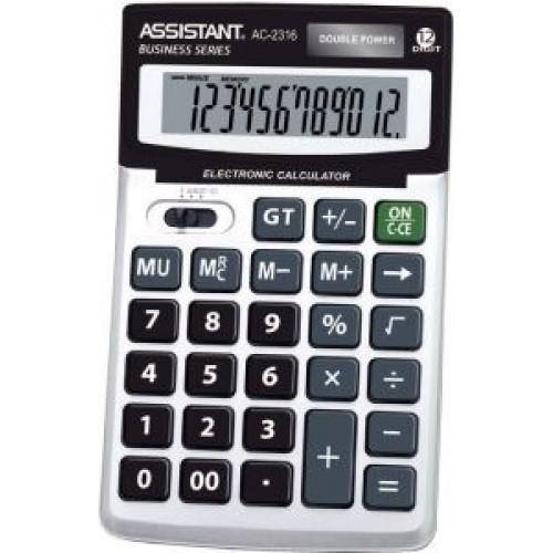 Калькулятор настольный Assistant черный 12-разр. AC-2308