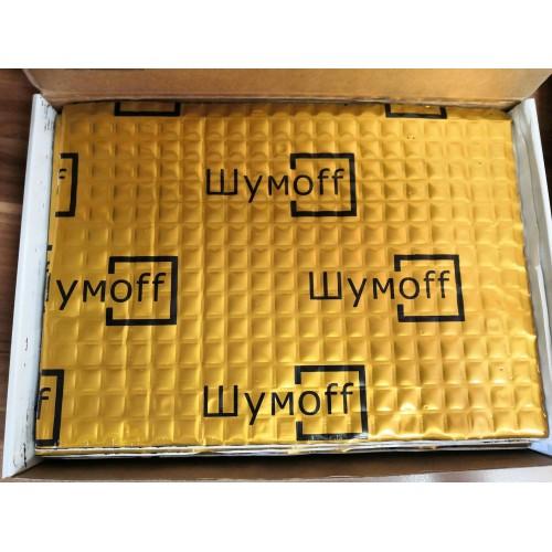 Виброизоляция Шумоff М4 Золотой (0,54х0,75) (6 листов в пачке)