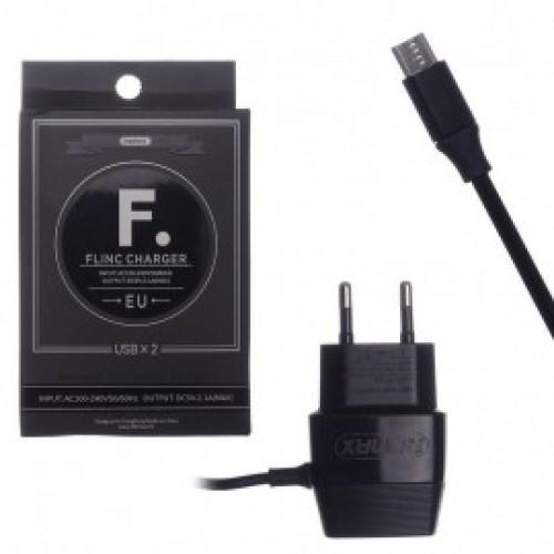 Зарядное устройство Remax RP-U29 microUSB (2.4A,2USB) black