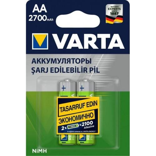 Аккумулятор Varta R6 AA BL2 NI-MH 2700mAh (2/20/200) (цена за 1 ш