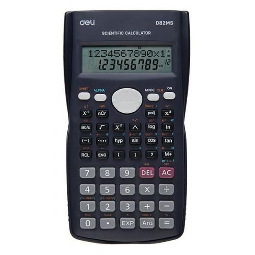 Калькулятор научный Deli ED82MS темно-синий 10+2-разр.
