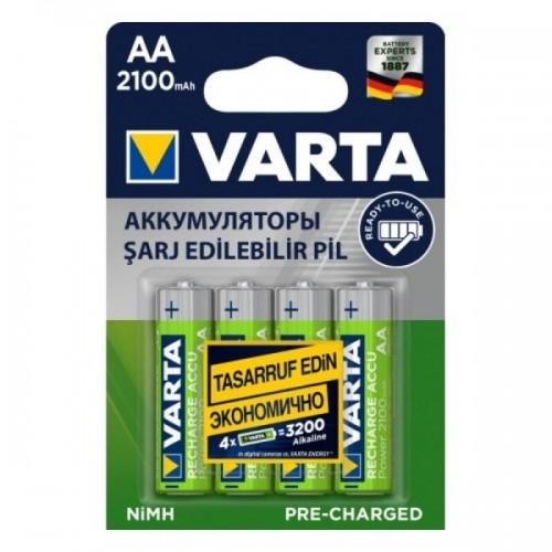 Аккумулятор Varta R6 AA BL4 NI-MH R2U 2100mAh (4/40/400) (цена за