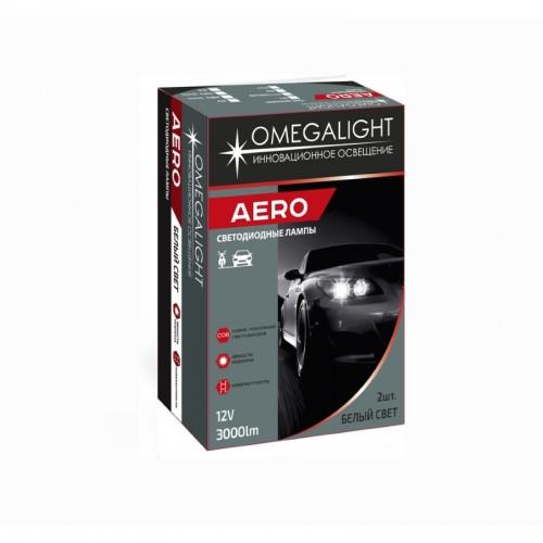 LED лампы головного света Omegalight Aero HB3 (COB) Гибкий кулер
