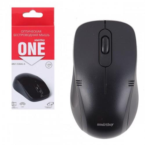 Мышь Smartbuy ONE 358AG-K, черная, беспроводная