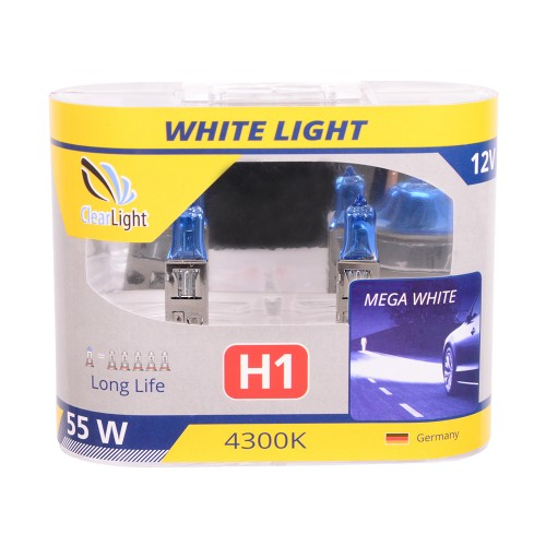 Галогеновая лампа Clearlight H1 12V-55W LongLife (1шт)