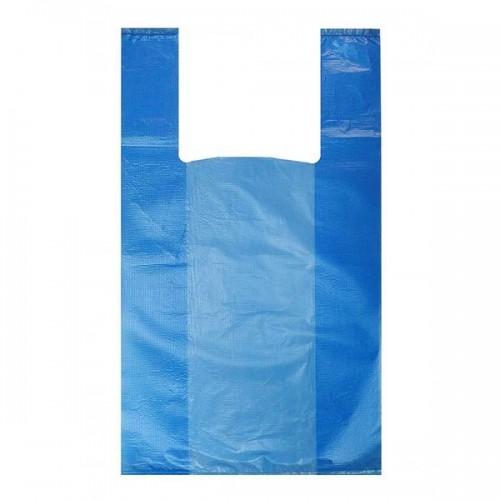ПАКЕТ МАЙКА Синяя 24*30cm 10мкм (за упаковку 100 шт)