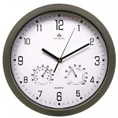 Часы настенные Atlantis TLD-9039 серый 309x309x49 мм